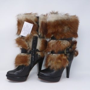 5b93ef3ca10 UGG Australia Shoes - NIB UGG Foxley Leather Toscana Fur Heeled Boots